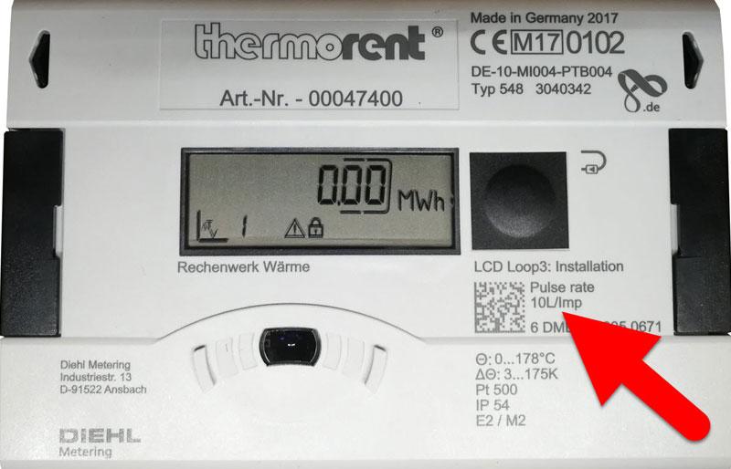 Fehler beim Einbau von Wärmezählern: Rechenwerk und Durchfluss-Sensor nicht passend