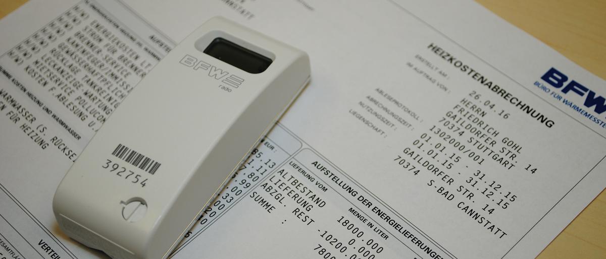 elektronische Heizkostenverteiler