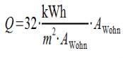 Q = 32 * E / A