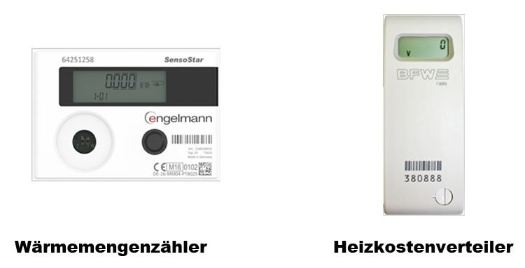 Wärmemengenzähler und Heizkostenverteiler